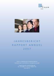 JAHRESBERICHT RAPPORT ANNUEL 2007 - SGO