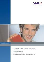Prozessmanager mit SGO-Zertifikat Einzelseminare Six Sigma Belts ...