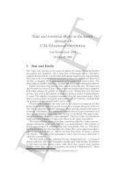 Solar and terrestrial effects on the middle atmosphere CAL ...