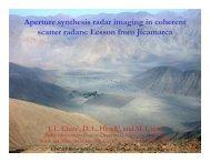 Aperture synthesis radar imaging in coherent scatter radars: Lesson ...