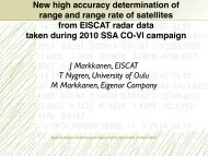New high-accuracy determination of range and range rate of ...