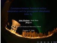Correlation between Sodankylä surface temperature and the ...