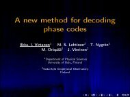 A new method for decoding phase codes - Sodankylä Geophysical ...