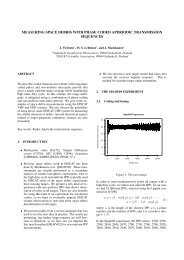 measuring space debris with phase coded aperiodic transmission ...