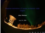 Bayesian estimation of narrow incoherent radar targets - Sodankylä ...