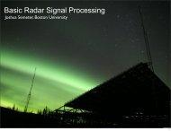 Basic Radar Signal Processing