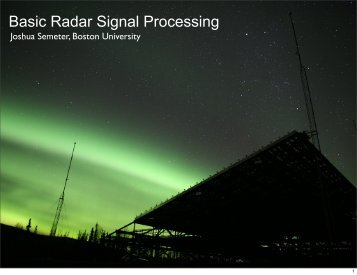 Basic Radar Signal Processing