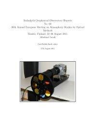 Abstracts (PDF) - Sodankylä Geophysical Observatory