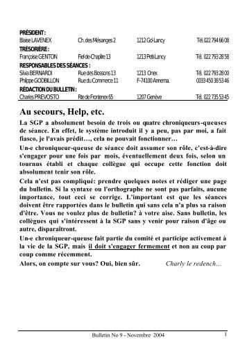 Au secours, Help, etc. - Société Genevoise de Photographie