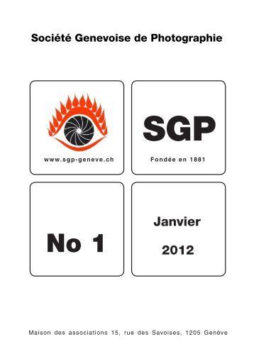 Janvier 2012 - Société Genevoise de Photographie