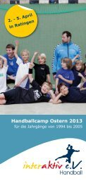 Handballcamp Ostern 2013 - SG Ratingen 2011