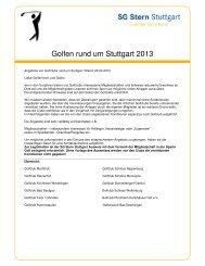 Koop 2013 draft - SG Stern Stuttgart