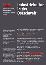 ISIS Industriekultur in der Ostschweiz - Sgti