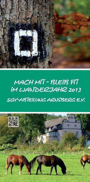 SGV Wanderplan 2013.indd