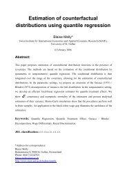 Estimation of counterfactual distributions using quantile regression