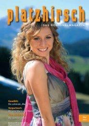 "Portrait im""Platzhirsch"" Regionalmagazin Mai 2010"