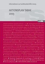 Aktionsplan Tabak 2003 - und Gesundheitswesen