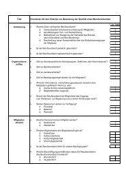 Titel Checkliste mit den Kriterien zur Bewertung der Qualität eines ...