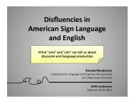 Disfluencies in American Sign Language and English