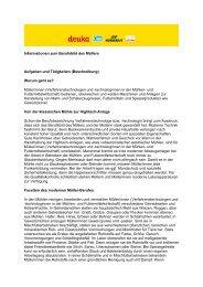 Informationen zum Berufsbild des Müllers