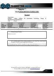TEAM DESCRIPT TEAM DESCRIPTION PAPER (TDP ... - Shaastra
