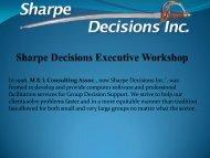Sharpe Decisions Executive Workshop