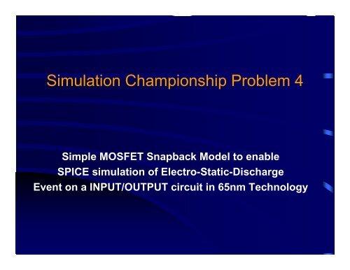Simulation Championship Problem 4 - Shaastra