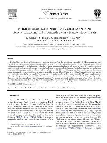 PDF of mushroom extract paper - SHAC >> Stop Huntingdon Animal ...