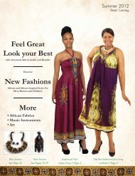 Summer 2012 Retail Catalog - Shades of Africa Ltd