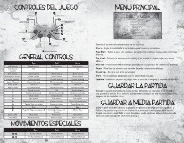 controles del juego general controls Movimientos especiales ... - Xbox