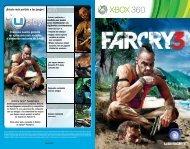 manual del juego - Xbox