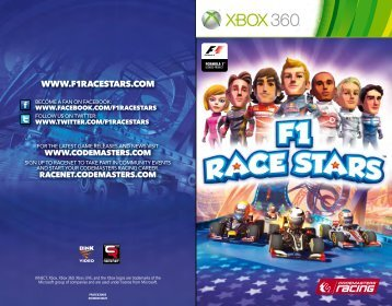 controls welcome to welcome to f1 race stars starting out - Xbox