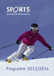 I. SPORTS-Veranstaltungen - SPORTS-Ski