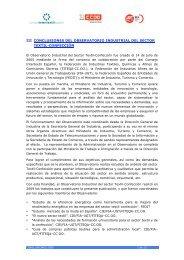 III CONCLUSIONES DEL OBSERVATORIO INDUSTRIAL ... - aipclop