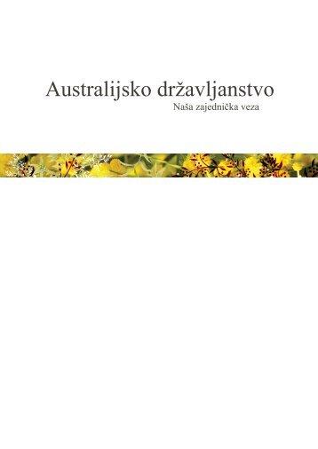 Australian Citizenship: Our Common Bond - Bosnian Translation