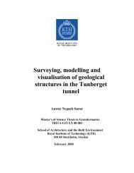 Surveying, modelling and visualisation of geological structures in ...