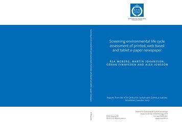 Screening environmental life cycle assessment of printed, web ...