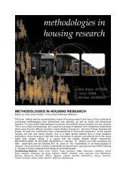 METHODOLOGIES IN HOUSING RESEARCH