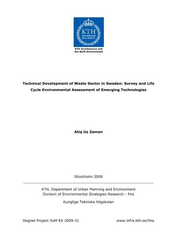 Technical Development of Waste Sector in Sweden: Survey