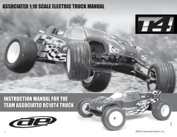 INSTRUCTION MANUAL FOR THE TEAM ASSOCIATED ... - Petit RC