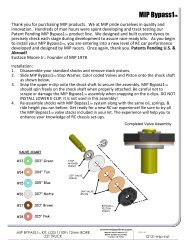MIP ByPass Instructions for TLR Big Bore - Petit RC