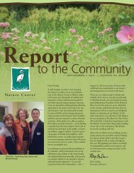 Report to the Community 2011-2012 - Nature Center at Shaker Lakes