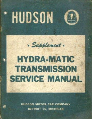 1952 - 1953 Hydra-Matic Manual Supplement