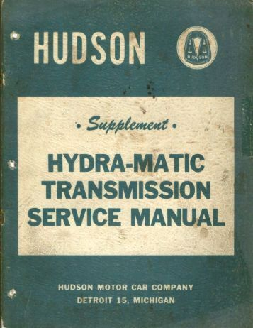 1952 - 1953 Hydra-Matic Manual Supplement