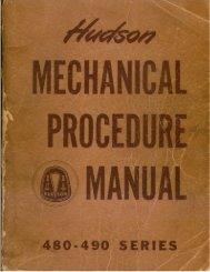 1948-49 Hudson Shop Service Manual