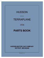 1936 Hudson Terraplane Parts Book - Hudson-Essex-Terraplane Club