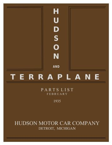 1935 Hudson and Terraplane Parts List. February - Hudson-Essex ...