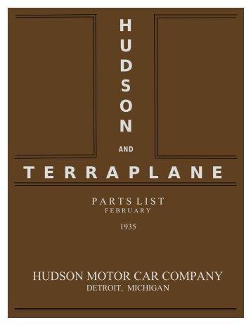 1935 Hudson and Terraplane Parts List. February - Hudson-Essex ...