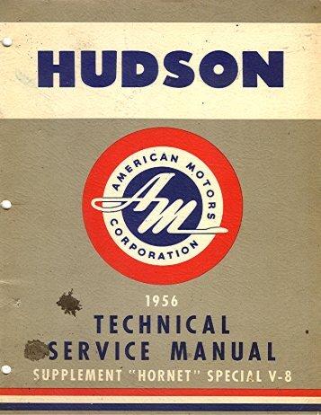 1956 AMC Hudson Technical Service Manual Supplement