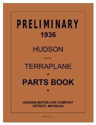 1936 Preliminary Hudson and Terraplane Parts Book